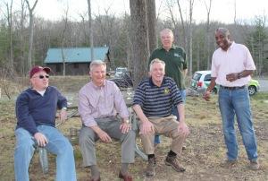 Secretary Harvey, Secretary Layne, Governor McAuliffe, Friends members Brian & Tom