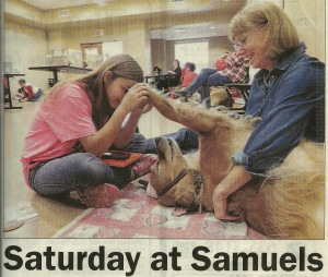 Savannah, Jake, and Jinny take a break. (Photo: Warren Sentinel)